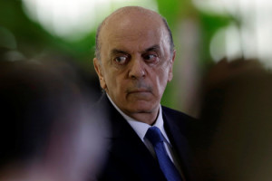Brazilian new Foreign Minister Jose Serra attends his inauguration ceremony at Itamaraty Palace in Brasilia, Brazil, May 18, 2016. REUTERS/Ueslei Marcelino